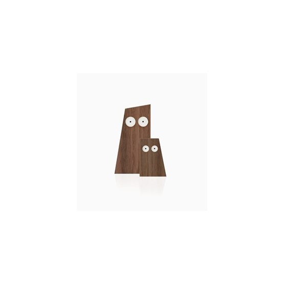 LES DUCS duo of wooden owls - Designerbox - Design : Big-Game