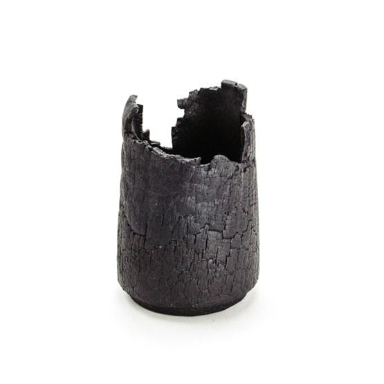 Pot – burnt wood - Design : MAUD Supplies