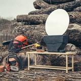 Mirror – burnt wood 5