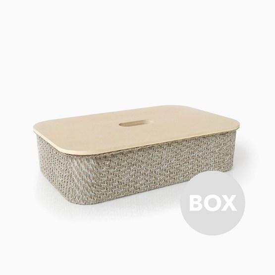 Boite en Lin FABRIC - Box 36 - Design : Philippe Nigro