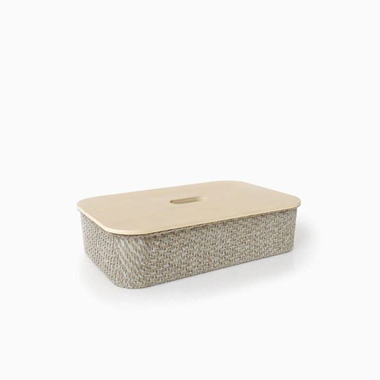 Boite en lin composite FABRIC - Designerbox X CELC - Design : Philippe Nigro