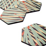 Coaster - Oak print 2