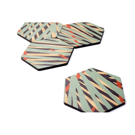 Coaster - Oak print - Design : LA MA DÉ