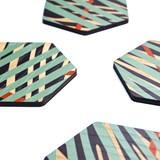 Coaster - Oak print 3