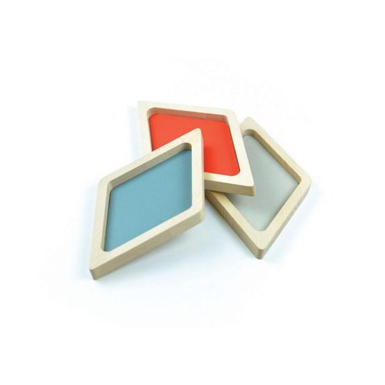Vide poches en hêtre et cuir Lom-Ri - Design : LA MA DÉ