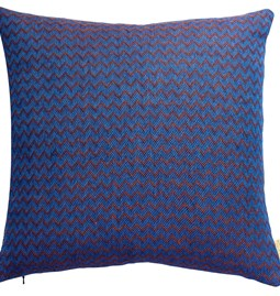 Wave Sunset Cushion - Blue