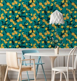 Wallpaper GEROGETTE Charcoal black
