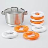 Flat rest EMMA - Orange and white 3