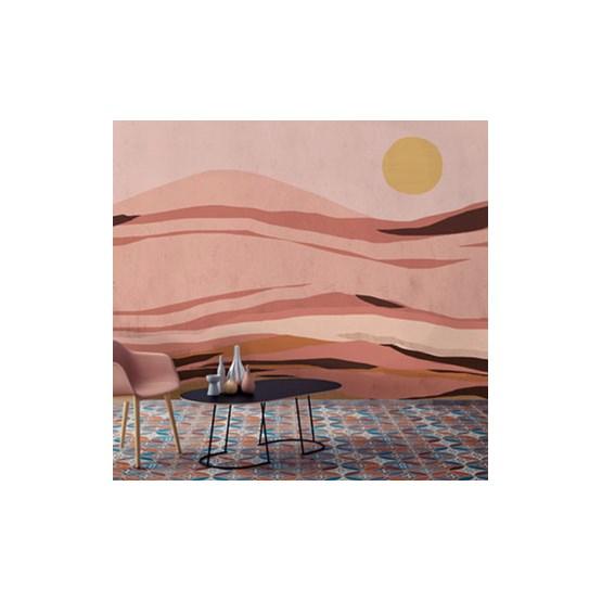 Sunset Wallpaper - pink - Design : Tenue de Ville