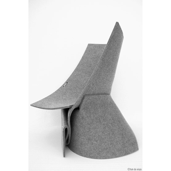 Chaise FF1 - Gris - Design : Fox & Freeze