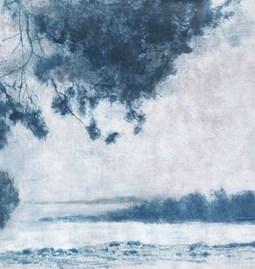Papier peint Legend - bleu royal