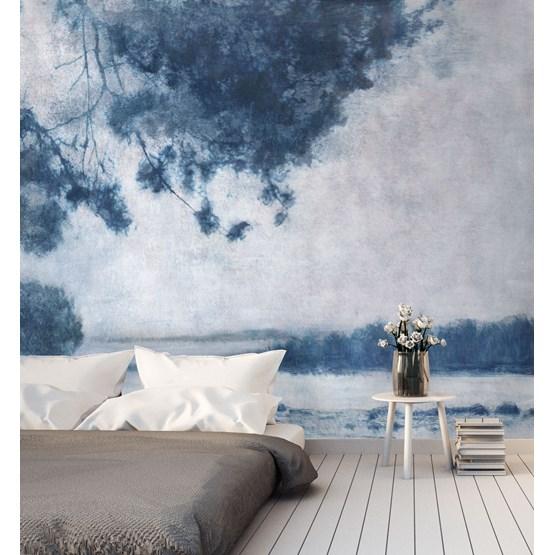 Legend Wallpaper - royal blue - Design : Tenue de Ville