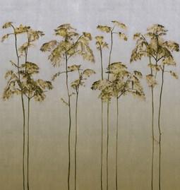 Papier peint Lore - jaune sauterne