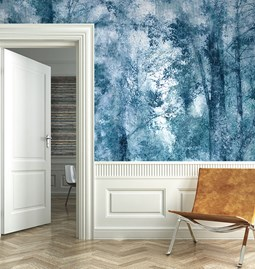 Papier peint Mist - bleu royal