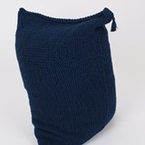 Knitted woolen bean bag - blue 4