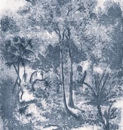 Papier peint Muse - bleu royal