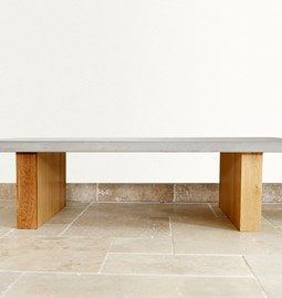 Maje coffee table - concrete and wood