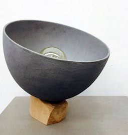 Onix lamp - concrete and wood
