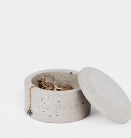 Boîte à bijoux Uni - béton