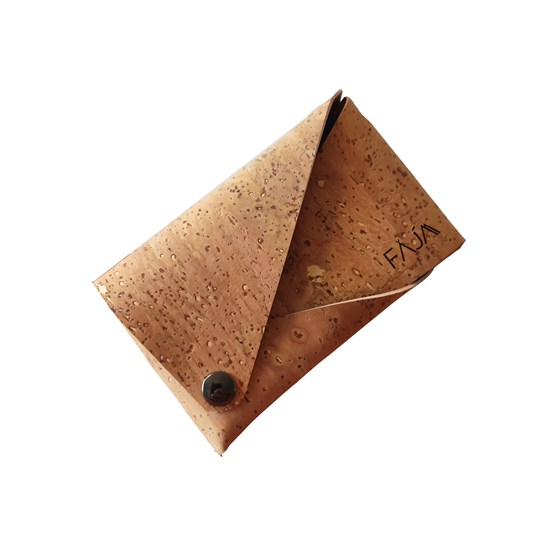 Pouch wallet natural cork - Design : Faja