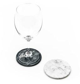 Dessous de verre - Marbre gris