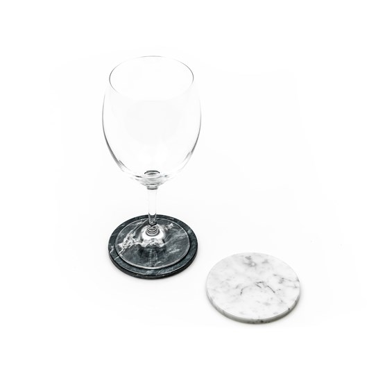 Coaster - White marble  - Design : Fiammetta V