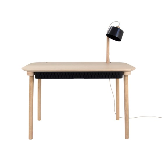 Bureau, tiroir & lampe by désiré - Black - Design : Dizy