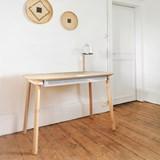 Bureau, tiroir & lampe by désiré - Blanc 4
