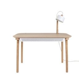 Bureau, tiroir & lampe by désiré - Blanc