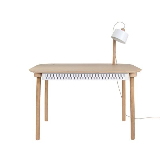 Bureau, tiroir & lampe by désiré - Blanc - Design : Dizy