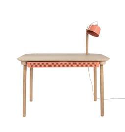 Bureau, tiroir & lampe by désiré - Rose poudré