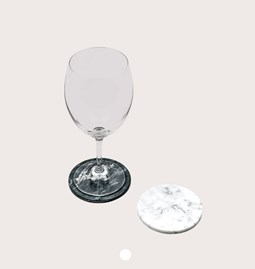 Dessous de verre - Marbre blanc