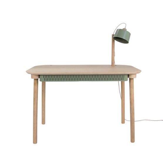 Bureau, tiroir & lampe by désiré - Vert de gris - Design : Dizy