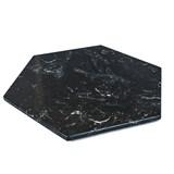 Dessous de plat hexagonal - marbre noir et liège 3