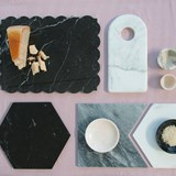 Little plate -  black marble 6