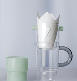 STACK complete Slow Drip Coffee set - jade green