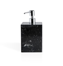 Distributeur de savon carré à pompe - marbre noir