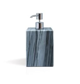 Distributeur de savon carré à pompe - marbre gris