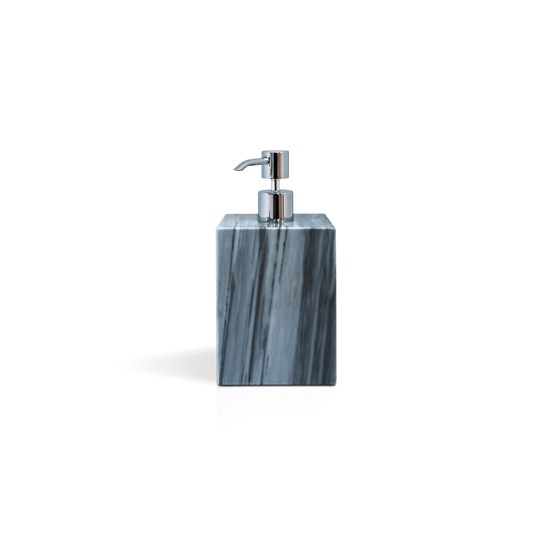 Squared soap pump dispenser - grey marble - Design : Fiammetta V