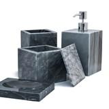 Squared soap pump dispenser - grey marble 5