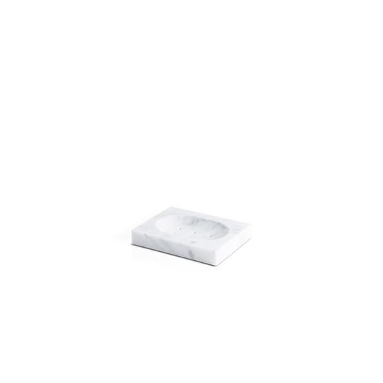 Porte-savon carré - marbre blanc - Design : Fiammetta V