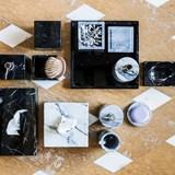 Squared soap dish - black marble 4