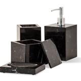Squared toothbrush holder - black marble  5