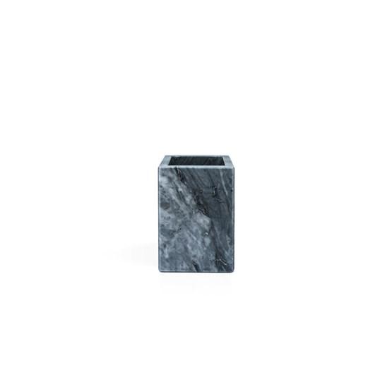 Squared toothbrush holder - grey marble  - Design : Fiammetta V