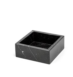 Cotton box - black marble