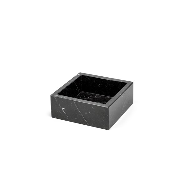 Cotton box - black marble  - Design : Fiammetta V