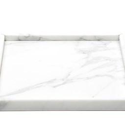 Plateau carré - marbre blanc