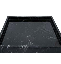 Plateau carré - marbre noir