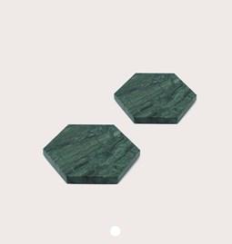 Dessous de verres - marbre vert et liège