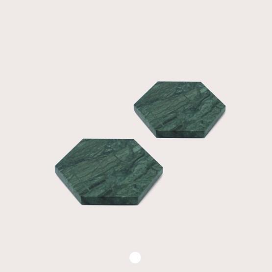 Coasters - white marble and cork - Design : Fiammetta V